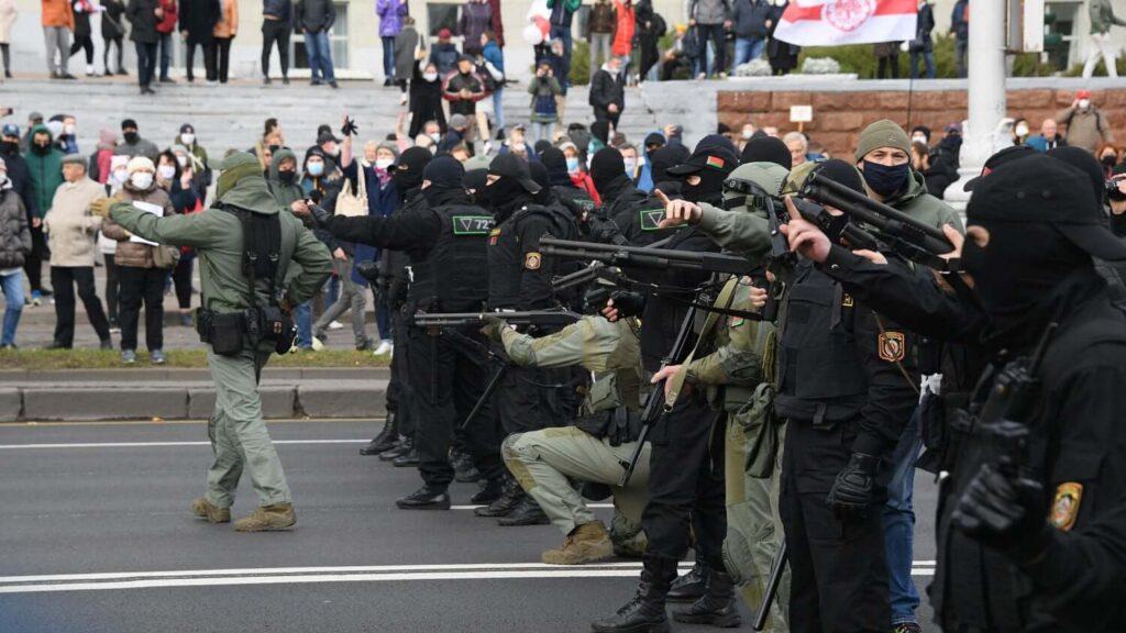 о разгоне протестующих