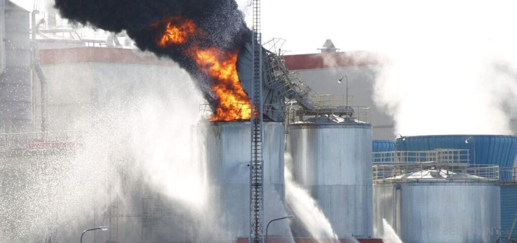 На Светлогорском целлюлозно-картонном комбинате случился пожар